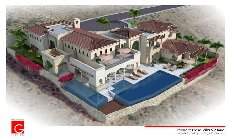 Casas unifamilares de estilo  de arquitectura GOSSELIN, Mediterráneo
