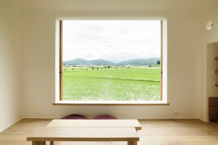 Wooden windows by Mimasis Design/ミメイシス デザイン, Minimalist Wood Wood effect