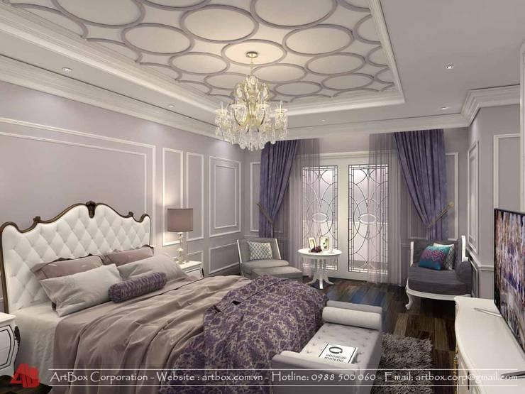 Thiết kế kiến trúc và nội thất biệt thự Mr. Sơn:  Bedroom by Thiết Kế Nội Thất - ARTBOX,