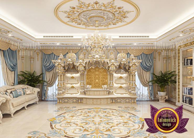 Custom Beautiful Home Hindu Temple by Luxury Antonovich Design
