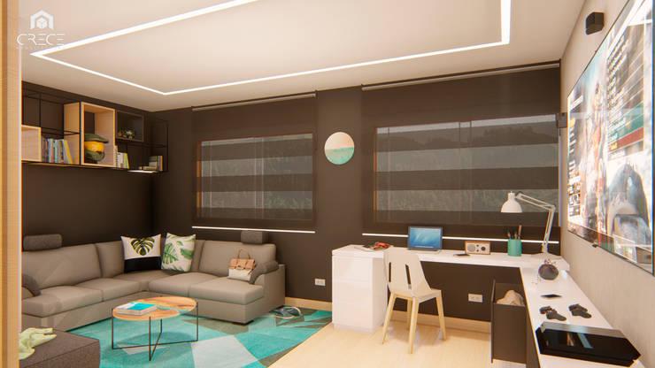 INTERIOR 25G / VIÑA SAN REMO: Estudios y despachos de estilo  por CRECE ARQUITECTURA SAS,