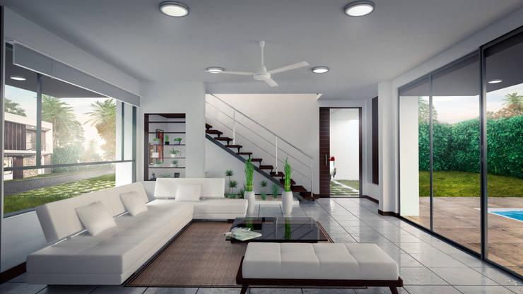 Altos del palmar – Casa campestre  (Interiores): Espacios comerciales de estilo  por Kiorama S.A.S,
