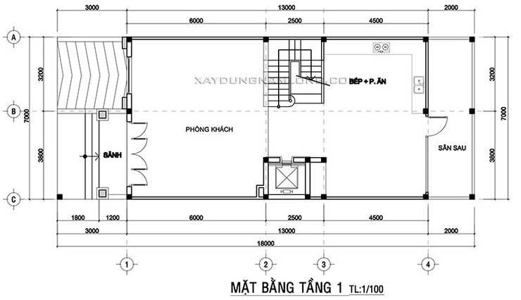 Thiết kế nhà phố tân cổ điển có tầng hầm bởi Công ty cổ phần tư vấn kiến trúc xây dựng Nam Long