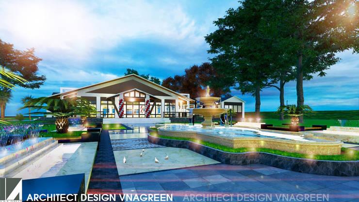 NHÀ HÀNG TIỆC CƯỚI 1 TẦNG bởi công ty cổ phần Thiết kế Kiến trúc Việt Xanh