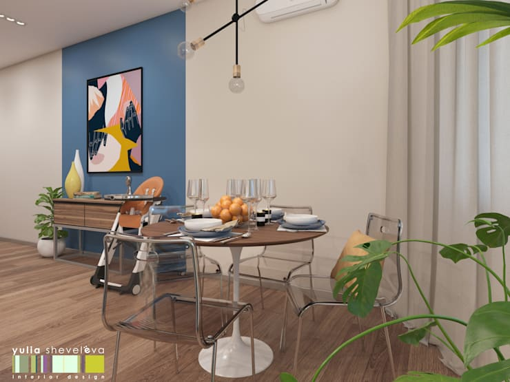 В ритме цвета: Кухни в . Автор – Мастерская интерьера Юлии Шевелевой, Эклектичный