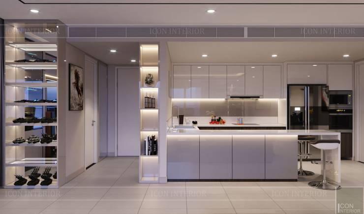 Thiết kế ấn tượng cho CĂN HỘ ĐẢO KIM CƯƠNG Nhà bếp phong cách hiện đại bởi ICON INTERIOR Hiện đại