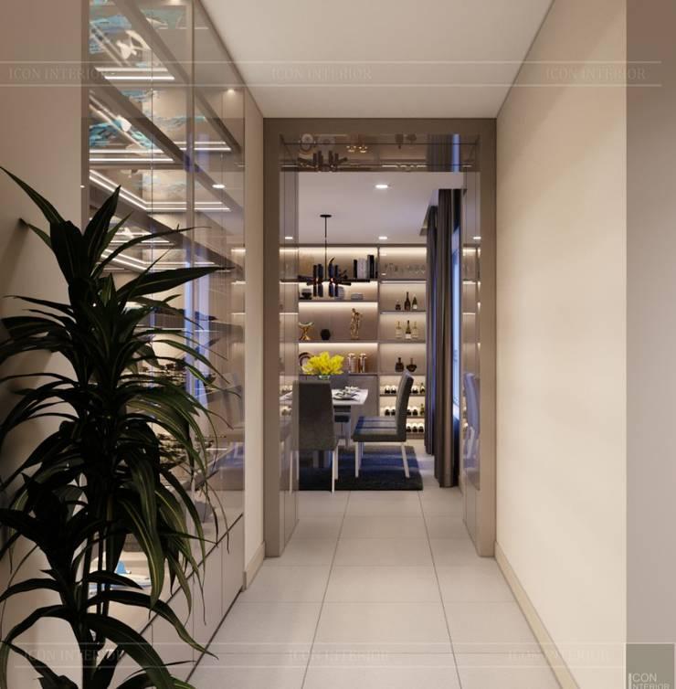 Thiết kế ấn tượng cho CĂN HỘ ĐẢO KIM CƯƠNG Hành lang, sảnh & cầu thang phong cách hiện đại bởi ICON INTERIOR Hiện đại