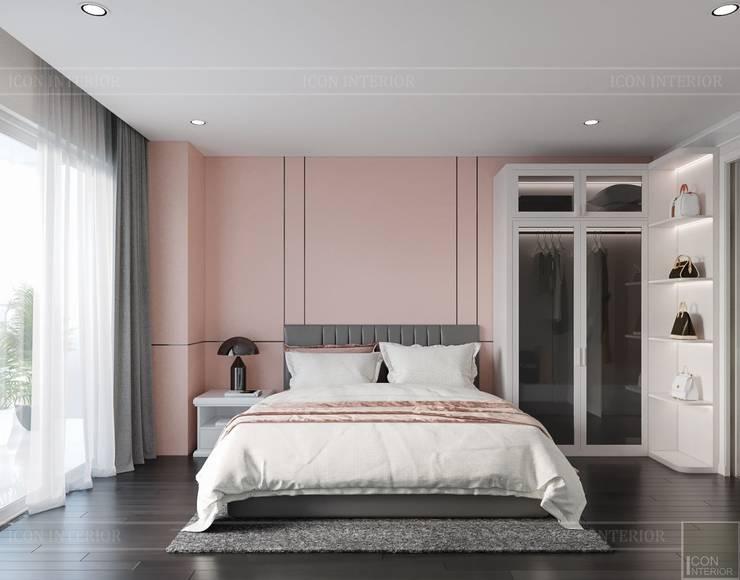 Thiết kế ấn tượng cho CĂN HỘ ĐẢO KIM CƯƠNG Phòng ngủ phong cách hiện đại bởi ICON INTERIOR Hiện đại