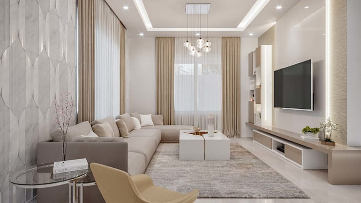 Living room by De Panache  - Interior Architects,