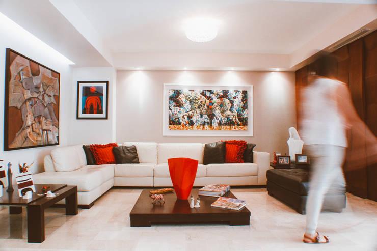 CASA ANACLERIO: Salas de estilo  por CLAUDIA CAROLINA GONZALEZ C, Moderno