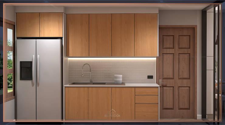 บ้านสร้างเอง ท่าข้าม พระราม 2: ทันสมัย  โดย BAANSOOK Design & Living Co., Ltd., โมเดิร์น