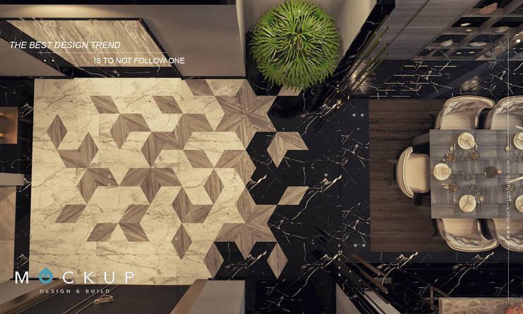 Pasillos y vestíbulos de estilo  de  Mockup studio, Moderno