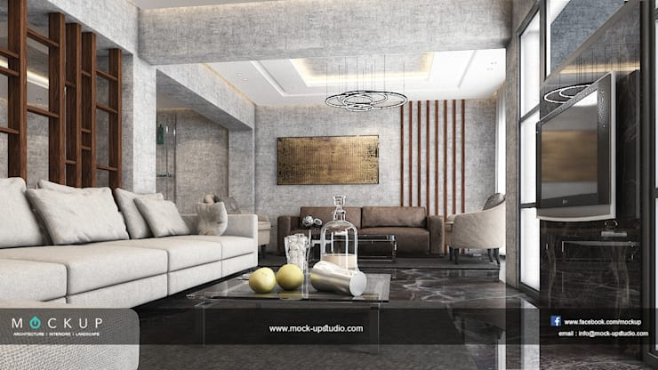 Living room by  Mockup studio, Modern