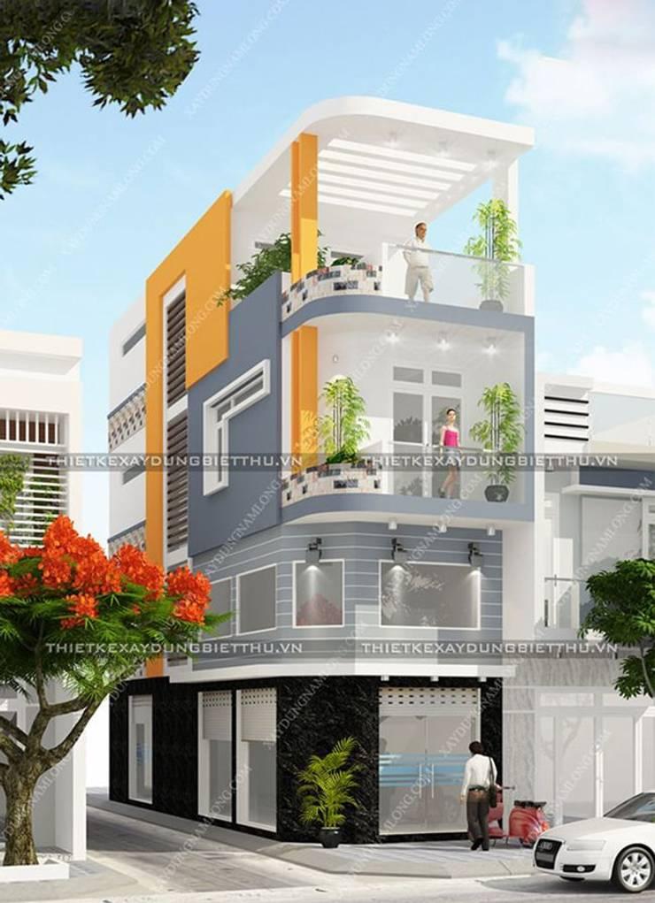 Thiết kế 2 mặt tiền đẹp phong cách hiện đại bởi Thiết kế nhà đẹp ở Hồ Chí Minh