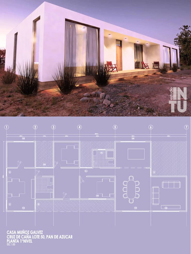 Proyecto Casa MG, Pan de Azucar, Coquimbo: Casas de campo de estilo  por Estudio Intu, Minimalista