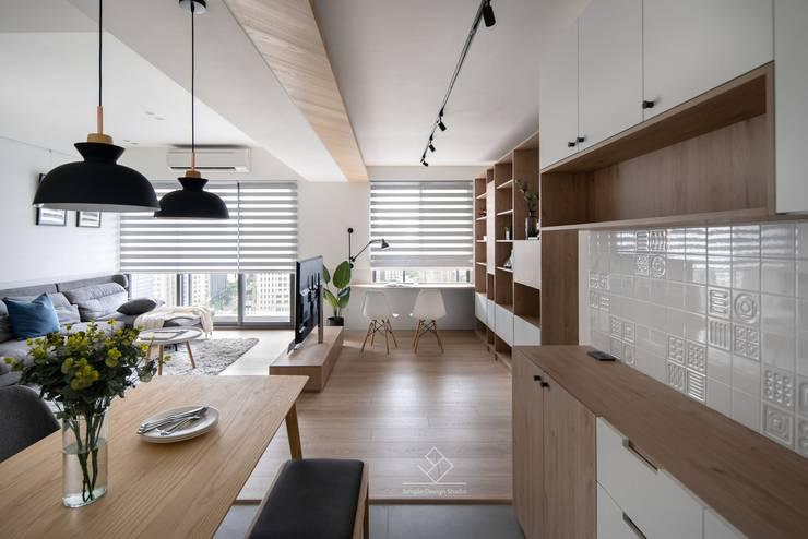 餐櫃壁磚:  餐廳 by 極簡室內設計 Simple Design Studio, 北歐風