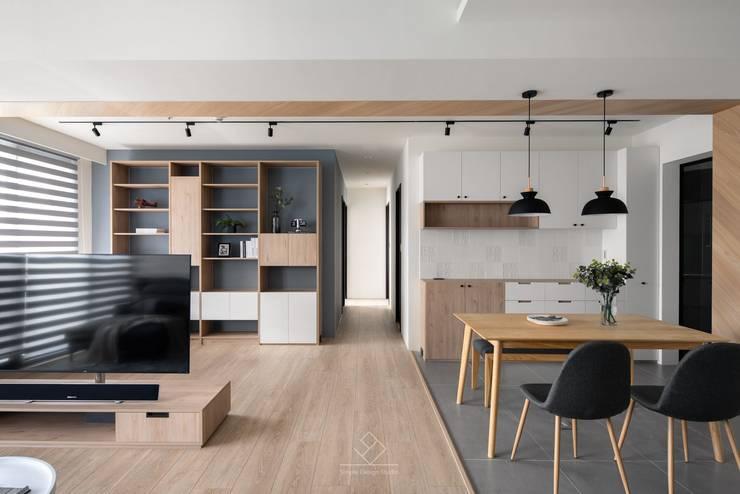 開放書房:  書房/辦公室 by 極簡室內設計 Simple Design Studio, 北歐風