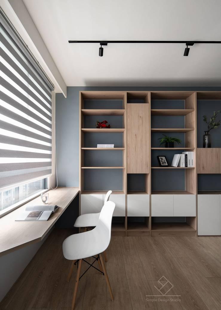 開放式書房:  書房/辦公室 by 極簡室內設計 Simple Design Studio, 北歐風