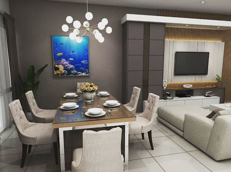 Design Kitchen set & Living Room:modern  oleh Maxx Details, Modern