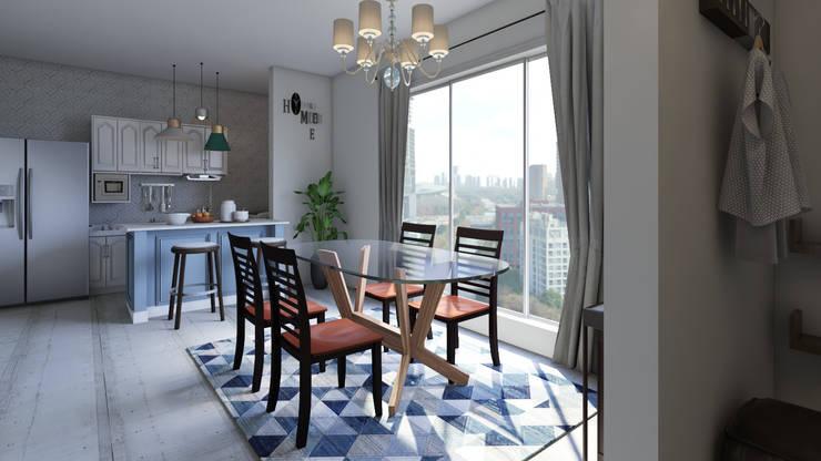 Decoración Casa - Comedor y cocina en la Ciudad de Tunja: Comedores de estilo  por Arkiline Arquitectura Optativa, Moderno Vidrio