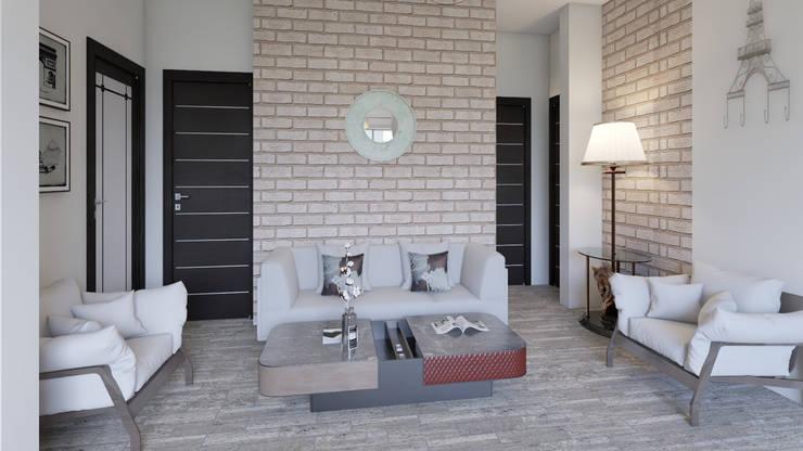 Decoración Casa - Sala en la Ciudad de Pereira: Salas de estilo  por Arkiline Arquitectura Optativa, Moderno Ladrillos