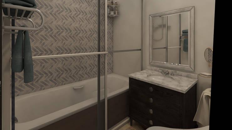 Decoración Casa - Baño Principal en la Ciudad de Tunja: Baños de estilo  por Arkiline Arquitectura Optativa, Clásico Aglomerado