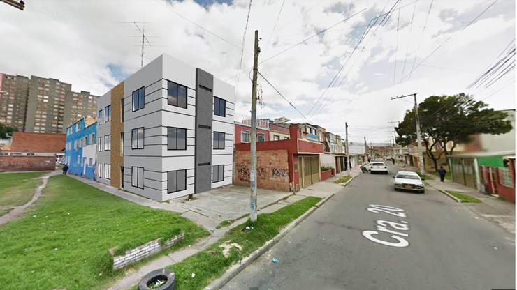 MULTIFAMILIAR RAMIREZ : Casas multifamiliares de estilo  por FENIXARQ., Minimalista Concreto