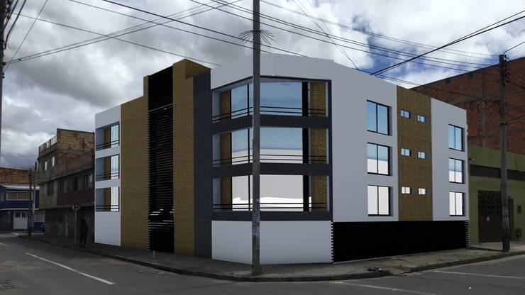 MULTIFAMILIAR CUEVAS 1: Casas multifamiliares de estilo  por FENIXARQ., Moderno Concreto