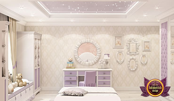 "Lovely Princess Bedroom Design with Gorgeous Furniture: {:asian=>""asian"", :classic=>""classic"", :colonial=>""colonial"", :country=>""country"", :eclectic=>""eclectic"", :industrial=>""industrial"", :mediterranean=>""mediterranean"", :minimalist=>""minimalist"", :modern=>""modern"", :rustic=>""rustic"", :scandinavian=>""scandinavian"", :tropical=>""tropical""}  by Luxury Antonovich Design,"