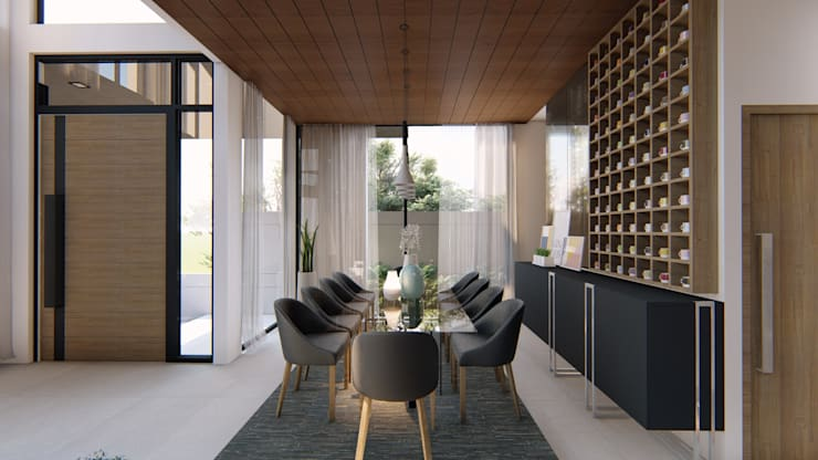 Dining room by Structura Architects, Modern Wood Wood effect