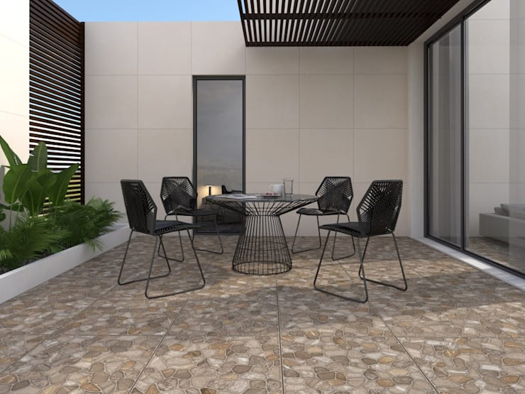 Rustic style balcony, veranda & terrace by Interceramic MX Rustic Ceramic