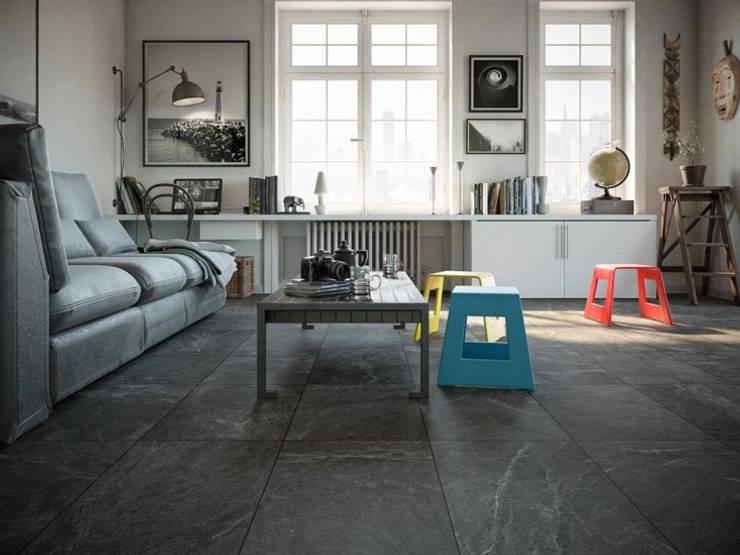 Industrial style living room by Interceramic MX Industrial Ceramic