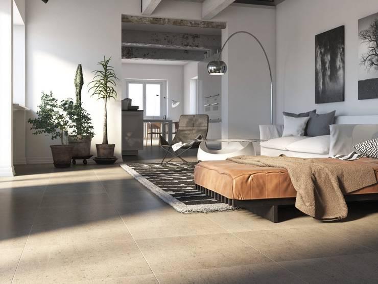Minimalist living room by Interceramic MX Minimalist Ceramic