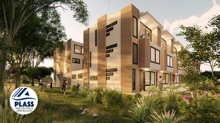 Conjunto residencial Reserva el Lago : Casas de estilo  por PLASS Arquitectura & Construcción, Moderno