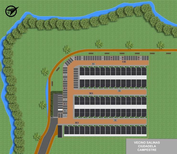 Reserva el Lago Ubicación. : Casas de estilo  por PLASS Arquitectura & Construcción, Moderno