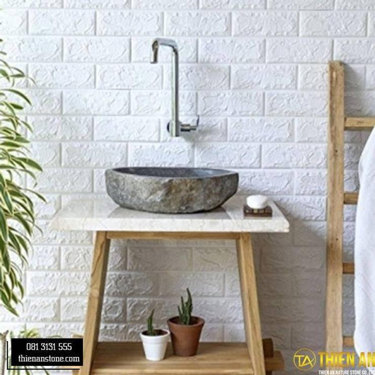 Chậu Rửa Lavabo Thiên An Stone: Châu Á  by CÔNG TY TNHH ĐÁ TƯ NHIÊN THIÊN AN, Châu Á Cục đá