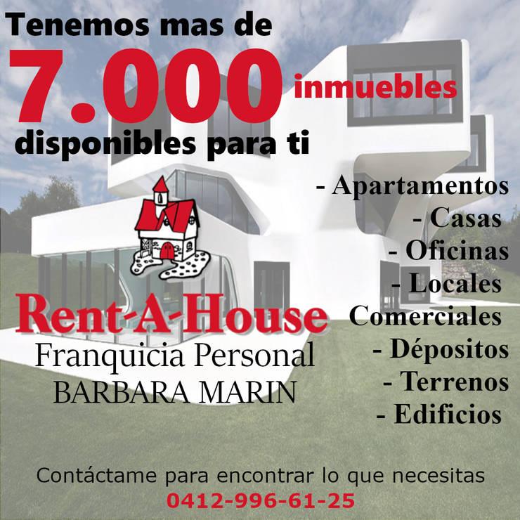 COMPRA VENTA Y ALQUILER DE INMUEBLES: Casas de estilo  por BARBARA MARIN , Moderno