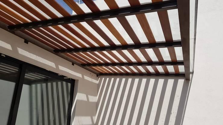 Modern Terrace by RIVERA ARQUITECTOS Modern Wood Wood effect