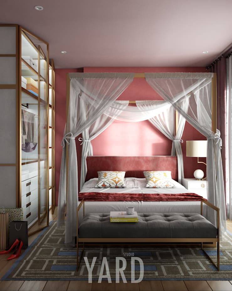Bedroom: ทันสมัย  โดย studio yard, โมเดิร์น กระจกและแก้ว