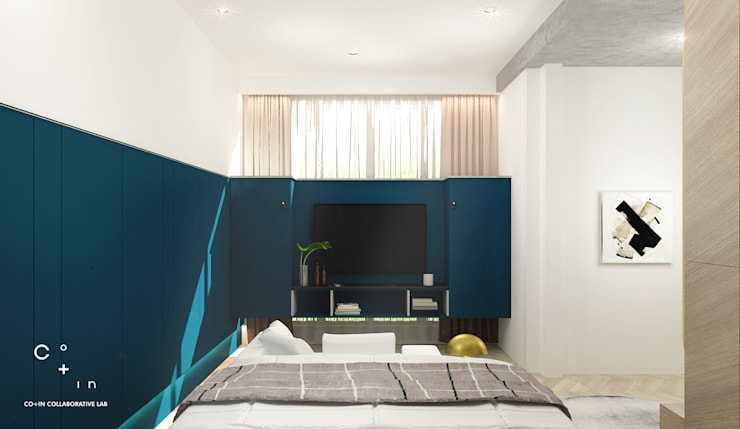 Modern style bedroom by Co+in Collaborative Lab Modern