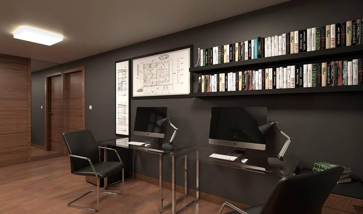Departamento de Soltero - Estudio : Oficinas de estilo  por Alexander Congonha, Ecléctico Madera Acabado en madera