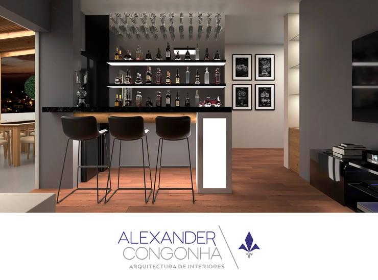 Bar en Penthouse de San Borja: Electrónica de estilo  por Alexander Congonha, Moderno