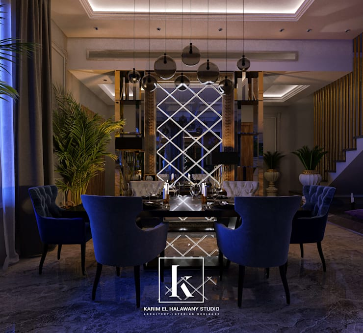 Dining room by Karim Elhalawany Studio, Classic