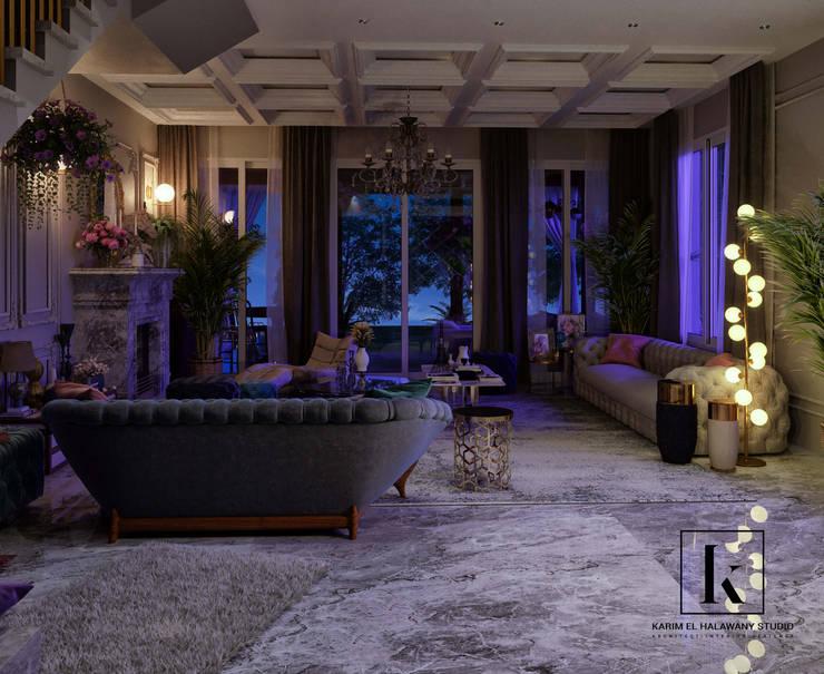 Salas de estar  por Karim Elhalawany Studio, Clássico