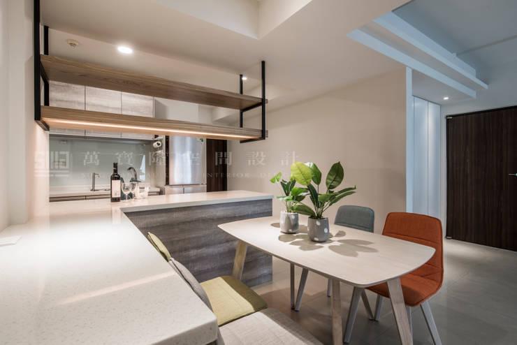 老屋新力/星光水悅:  廚房 by SING萬寶隆空間設計, 北歐風