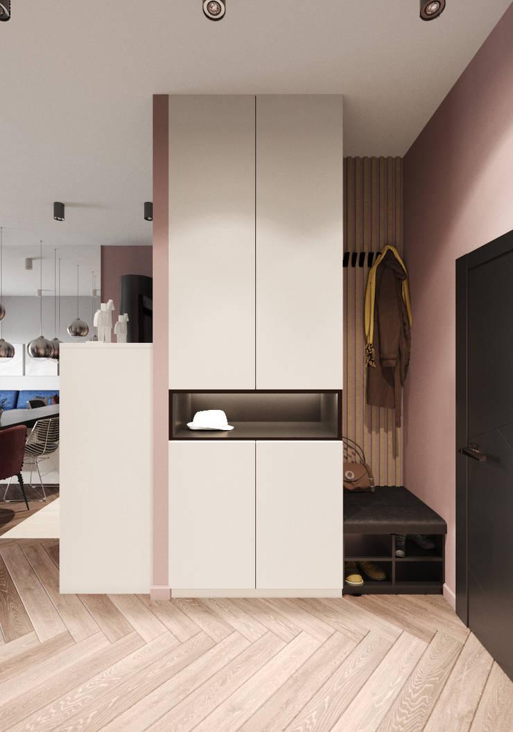 Corridor & hallway by 'INTSTYLE', Scandinavian Wood Wood effect
