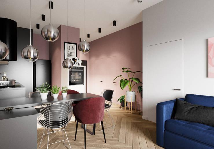 Kitchen by 'INTSTYLE', Scandinavian Wood Wood effect