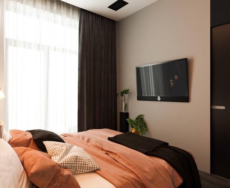 Bedroom by 'INTSTYLE', Scandinavian Wood Wood effect