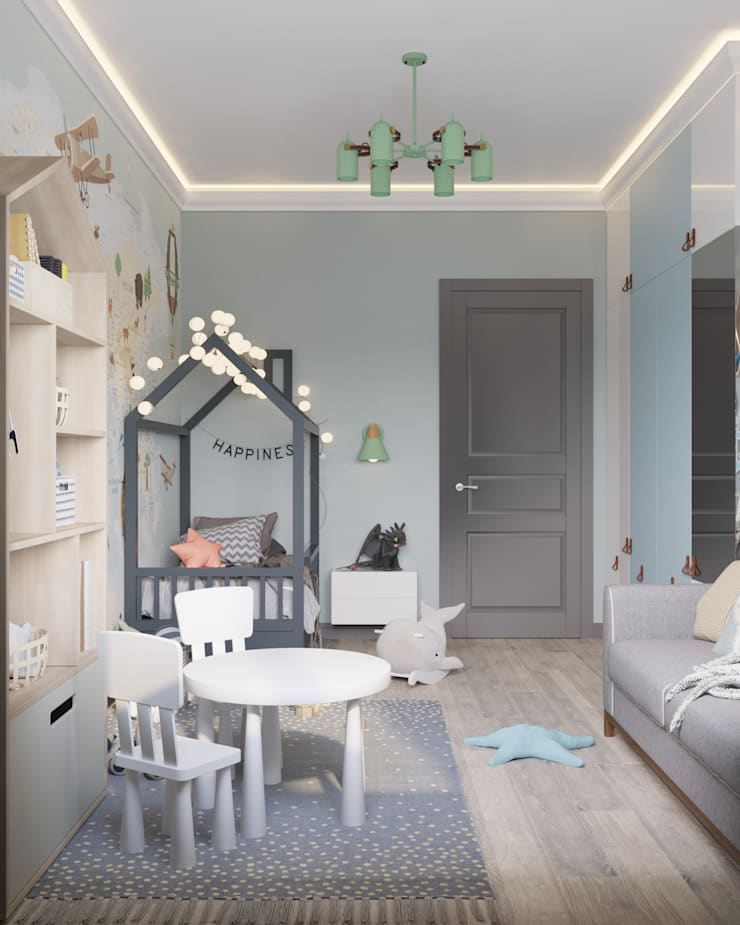 Nursery/kid's room by 'INTSTYLE', Classic Wood Wood effect