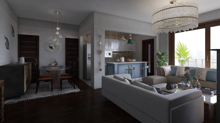 Home Staging Virtual : Salas de estilo  por Arkiline Arquitectura Optativa, Moderno Aglomerado